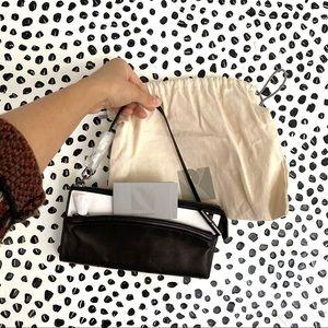 Reed Krakoff leather shoulder mini bag or wallet two tone metallic back gunmetal